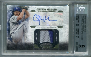 Clayton Kershaw BGS Certified Authentic Autograph - 2016 Topps Tier One Relics #39/50