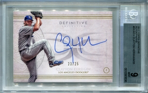 Clayton Kershaw BGS Certified Authentic Autograph - 2017 Topps Definitive #23/25