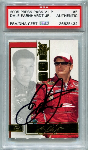 Dale Earnhardt Jr PSA/DNA Certified Authentic Autograph - 2005 Press Pass VIP