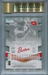 David Ortiz BGS Certified Authentic Autograph - 2015 Panini Elite Signature Status Green #10/15