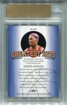 Dennis Rodman Leaf Uncirculated Autograph #9/10 - 2015 Leaf Greatest Hits