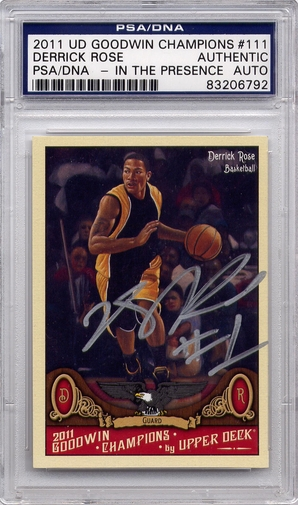 Derrick Rose PSA/DNA Certified Authentic Autograph - 2011 UD Goodwin