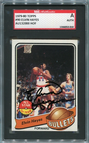 Elvin Hayes SGC Certified Authentic Autograph - 1979 Topps