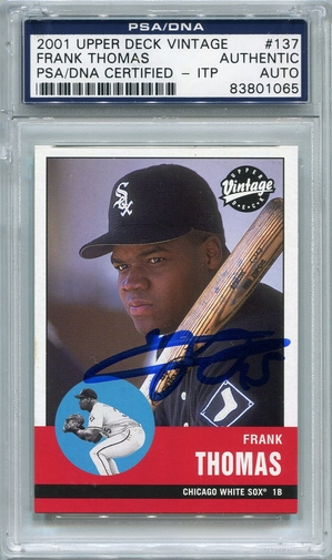 Frank Thomas PSA/DNA Certified Authentic Autograph - 2001 Upper Deck Vintage