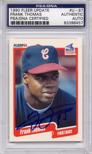 Frank Thomas Rookie PSA/DNA Certified Authentic Autograph - 1990 Fleer Updt