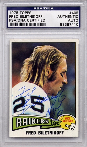 Fred Biletnikoff PSA/DNA Certified Authentic Autograph - 1975 Topps