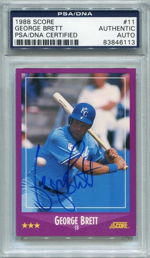 George Brett PSA/DNA Certified Authentic Autograph - 1988 Score (6113)