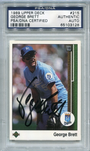 George Brett PSA/DNA Certified Authentic Autograph - 1989 Upper Deck