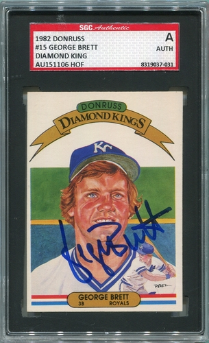 George Brett SGC Certified Authentic Autograph - 1982 Donruss Diamond Kings
