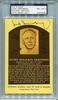 Hank Greenberg PSA/DNA Certified Authentic Autograph - Hall of Fame Plaque Postcard