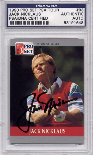 Jack Nicklaus PSA/DNA Certified Authentic Autograph - 1990 Pro Set