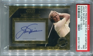 Jack Nicklaus PSA/DNA Certified Authentic Autograph - 2014 Press Pass Five Star Gold