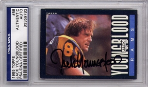 Jack Youngblood PSA/DNA Certified Authentic Autograph - 1985 Topps