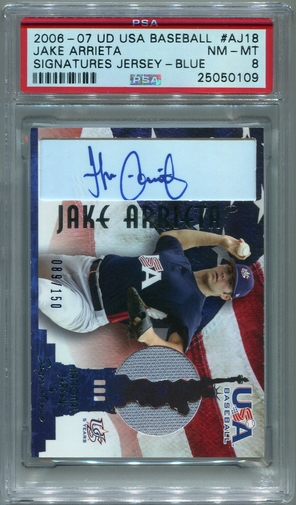 Jake Arrieta PSA/DNA Certified Authentic Autograph - 2006 UD USA Baseball