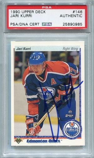 Jari Kurri (HOF) PSA/DNA Certified Authentic Autograph - 1990 Upper Deck