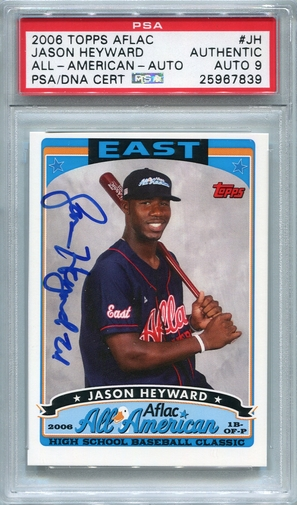 Jason Heyward PSA/DNA Certified Authentic Autograph - 2006 Topps Aflac
