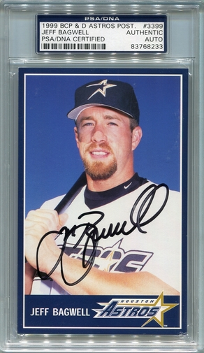 Jeff Bagwell PSA/DNA Certified Authentic Autograph - 1999 BCP & D Postcard