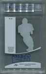 Jim Kelly BGS Certified Authentic Autograph - 2015 Leaf Q Pure - Charcoal #PAJK1