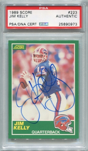 Jim Kelly PSA/DNA Certified Authentic Autograph - 1989 Score