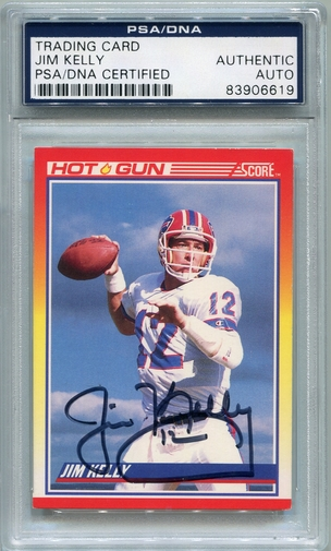 Jim Kelly PSA/DNA Certified Authentic Autograph - 1990 Score