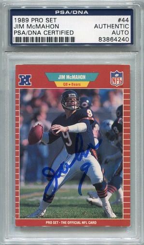 Jim McMahon PSA/DNA Certified Authentic Autograph - 1989 Pro Set