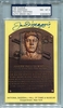 Joe DiMaggio PSA/DNA Certified Authentic Autograph - Hall of Fame Plaque Postcard