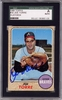 Joe Torre SGC Certified Authentic Autograph - 1968 Topps