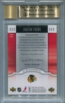 Jonathan Toews Rookie BGS Certified Authentic Autograph - 2007 U.D. Ultimate Collection