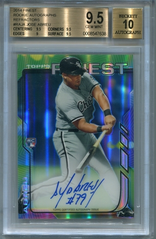 Jose Abreu BGS Certified Authentic Autograph - 2014 Finest Rookie Refractors