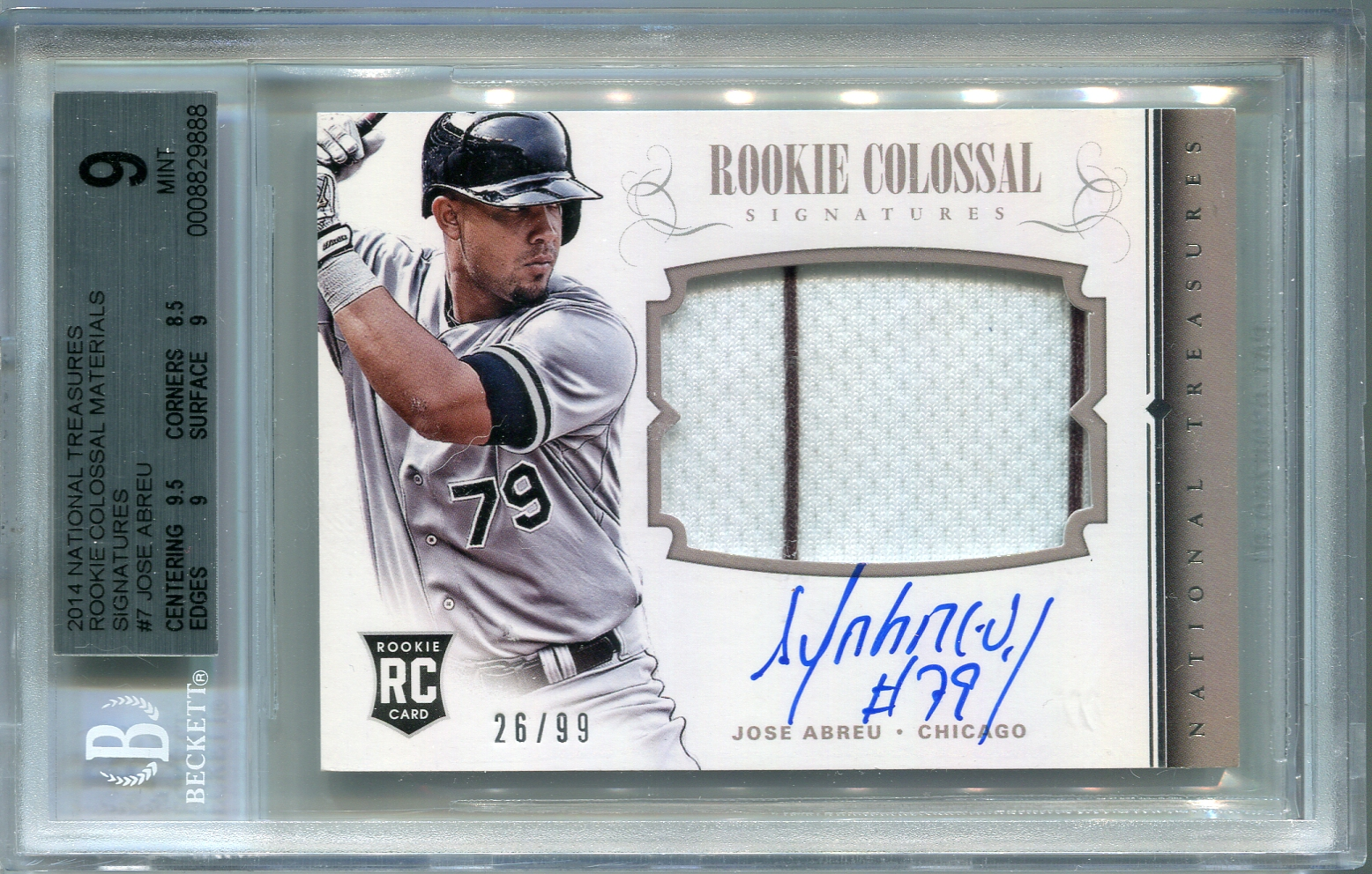 Jose Abreu Rookie Bgs Certified Authentic Autograph 2014