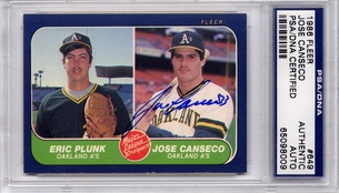 Jose Canseco Rookie PSA/DNA Certified Authentic Autograph - 1986 Fleer