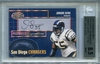 Junior Seau BGS Certified Authentic Autograph - 2000 Donruss Preferred