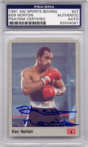 Ken Norton PSA/DNA Certified Authentic Autograph - 1991 AW Sports Boxing