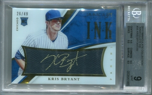 Kris Bryant Rookie BGS Certified Authentic Autograph - 2015 Panini Immaculate Collection