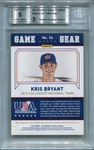 Kris Bryant BGS Certified Authentic Autograph - 2015 Panini USA Baseball Ruby