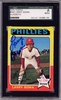 Larry Bowa SGC Certified Authentic Autograph - 1975 Topps