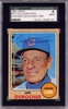 Leo Durocher SGC Certified Authentic Autograph - 1968 Topps