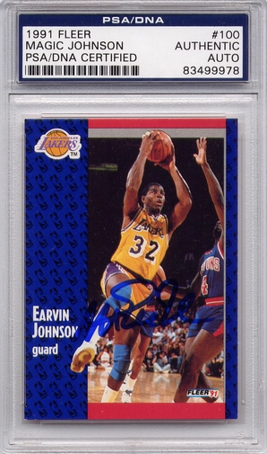 Magic Johnson PSA/DNA Certified Authentic Autograph - 1991 Fleer