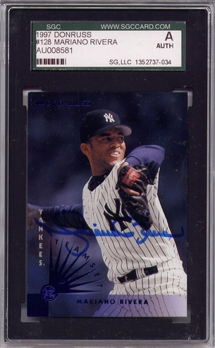 Mariano Rivera SGC Certified Authentic Autograph - 1997 Donruss