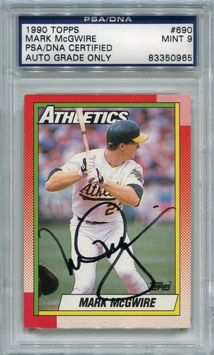 Mark McGwire PSA/DNA Certified Authentic Autograph - 1990 Topps