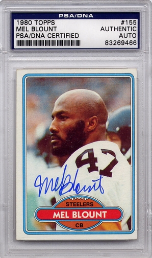 Mel Blount PSA/DNA Certified Authentic Autograph - 1980 Topps