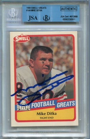Mike Ditka BGS/JSA Certified Authentic Autograph - 1989 Swell Greats