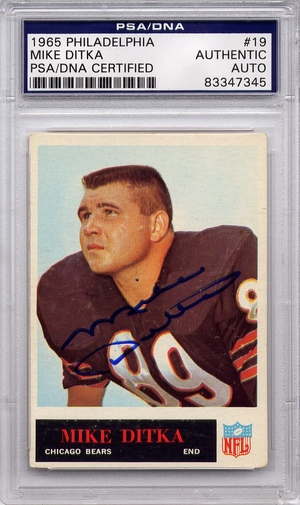Mike Ditka PSA/DNA Certified Authentic Autograph - 1965 Philadelphia