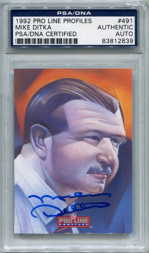 Mike Ditka PSA/DNA Certified Authentic Autograph - 1992 Pro Line Profiles