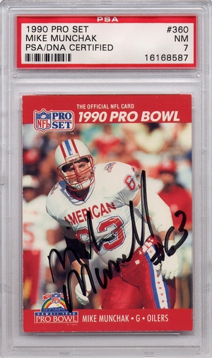 Mike Munchak PSA/DNA Certified Authentic Autograph - 1990 Pro Set