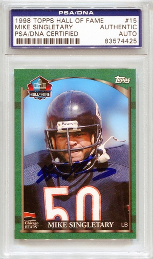 Mike Singletary PSA/DNA Certified Authentic Autograph - 1988 Topps HOF