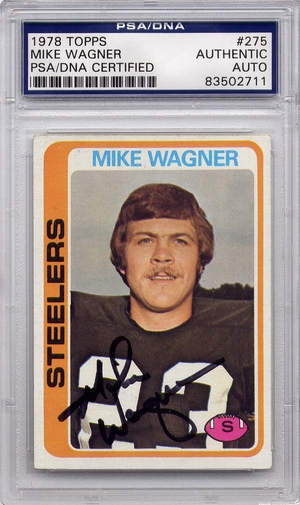 Mike Wagner PSA/DNA Certified Authentic Autograph - 1978 Topps