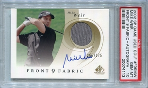 Mike Weir PSA/DNA Certified Authentic Autograph - 2002 SP Game Used - PSA 10 GEM MT