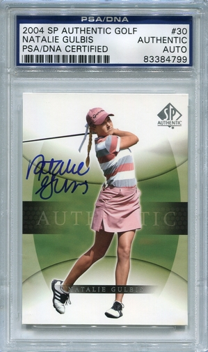 Natalie Gulbis PSA/DNA Certified Authentic Autograph - 2004 SP #30