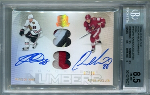 Patrick Kane / Peter Mueller BGS Certified Autograph - 2009 Upper Deck The Cup